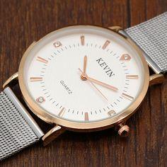 KEVIN relógio de quartzo homens mulheres com Crystal Stone Casaul relógio para…