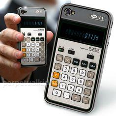 mnky:  Old-School Calculator iPhone 4 Case | GeekAlerts