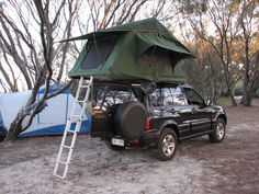 Camping with the roof tent