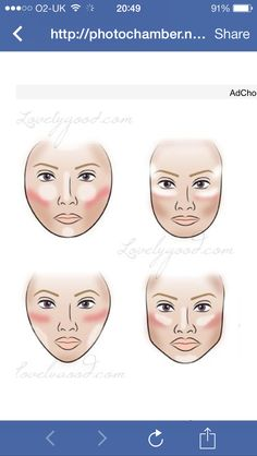 Contouring and highlighting based on your face shape