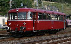 Early bus-derived traditional Uerdingen railbus in Germany