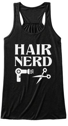 Hair Nerd Black Women's Tank Top Front