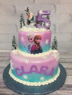 Best Birthdays Ever Frozen Themed Birthday Cake, Frozen Theme Cake, Frozen Themed Birthday Party, 4th Birthday Cakes, Disney Frozen Birthday, Turtle Birthday, Turtle Party, Carnival Birthday, Princess Birthday