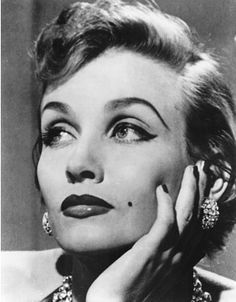 1950s Makeup Liz Renay Model and Burlesque Hall of Fame Beauty Mark and Hair Pinterest.com