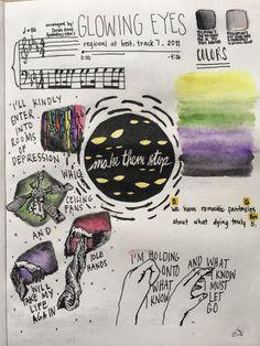 glowing eyes by twenty one pilots art study I LOVE THESE Tyler And Josh, Tyler Joseph, Twenty One Pilots Lyrics, Twenty One Pilots Drawing, Clique Art, Indie, Lyric Art, Staying Alive, My Chemical Romance