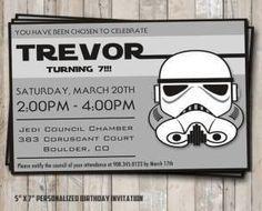 star wars birthday invitation stormtrooper                                                                                                                                                     More