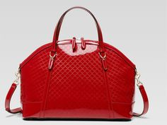 089fddb956e832 Gucci Nice Large Microguccissima Patent Leather Top Handle Bag, Red by Gucci  at Bergdorf Goodman.