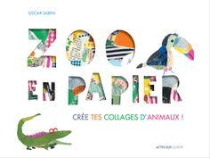 Un livre-objet ludique pour créer des collages d'animaux à l'aide de jolis papiers à motifs!