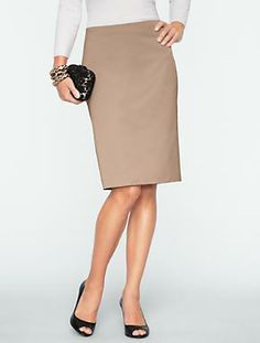 Talbots - Textured Satin Pencil Skirt | Skirts | Petites