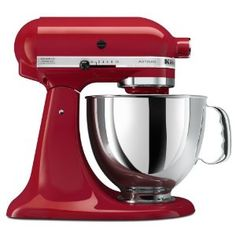 I could not function in my kitchen without my KitchenAid Stand Mixer; it does it all:)