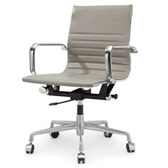 M348 Office Chair in Grey Vegan Leather
