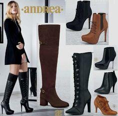 Catalogo de Botines y Botas Andrea 2016. Hojea: Botas de tacon, botas de plataforma, botas arriba de la rodilla, botas multicalce, botas de moda para mujer, botas juveniles, botas de amarre de agujetas. #iLovePS #style #chic #fashion #fashionable #fashionista #happy #must #sexy #shoes #sandals #spring #black