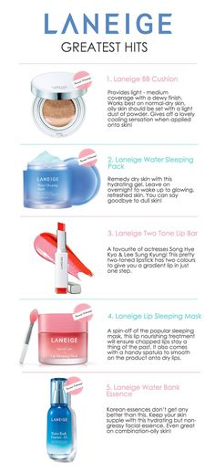 Top 5 Must-Have Products From Laneige! [Korean Beauty Edition] #beauty #koreanbeauty #skincare #laneige