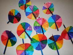 παιχνιδοκαμώματα στου νηπ/γειου τα δρώμενα: χρωματικός κύκλος - αναμειγνύω χρώματα !!! Modern Art, Rainbow, Fall, Blog, Painting, Colour, Home Decor, Activities For Kids, Rain Bow