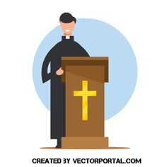 Pastor Behind The Podium Pastor Jesus Images Vector Free