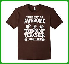 Mens Awesome Technology Teacher Looks Like T Shirt Large Brown - Careers professions shirts (*Amazon Partner-Link)
