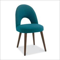 stokkholm walnut upholstered chair, teal