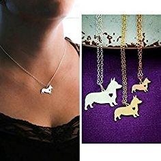 Corgi Dog Necklace - Cardigan Pembroke Welsh - IBD - Personalize with Name or Date - Choose Chain Length - Pendant Size Options - Sterling Silver Rose Gold Filled Charm - Ships in 2 Business Days *** Check out this great image : Handmade Gifts Corgi Dog Breed, Welsh Corgi Puppies, Pembroke Welsh Corgi, Dog Breeds, Dog Necklace, Animal Jewelry, Beautiful Necklaces, Animal Rescue, Charmed
