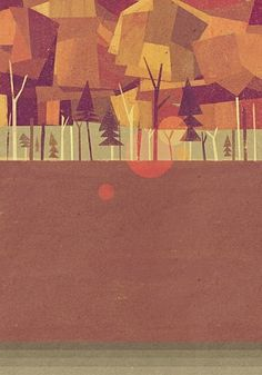 Retro illustration work by Matthew Lyons. Art And Illustration, Graphic Design Illustration, Illustrations Posters, Landscape Illustration, Poster Design, Design Art, Look At You, Vector Art, Retro Vector