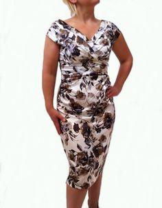 London Times Women's Shimmering Satin Floral Dress [VNFP167PL] - $79.00