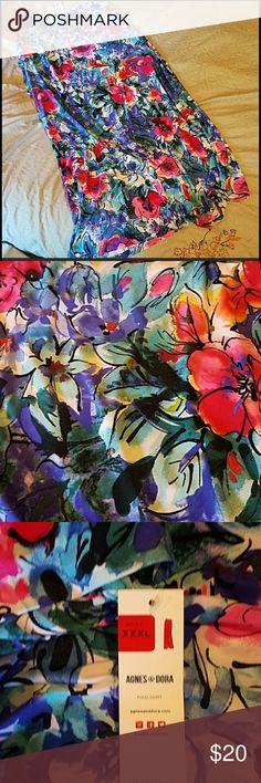 🌺💙NWT Gorgeous Straight Floral Maxi💙🌺 NWT Gorgeous Straight Floral Maxi Agnes & Dora Skirts Maxi