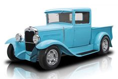 Other Pickups — 1931 Ford Pickup 1023 Miles Turquoise Pickup Truck 350 V8 4 Speed Automatic