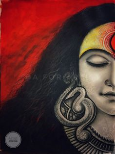 Yoga Art Painting Canvases Artworks 60 Ideas For 2019 Durga Maa Paintings, Durga Painting, Kerala Mural Painting, Indian Art Paintings, Buddha Painting, Painting Art, Watercolor Paintings, Madhubani Art, Madhubani Painting