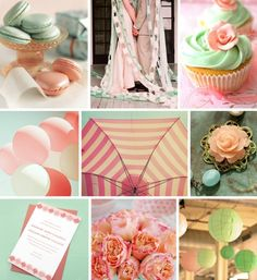 seafoam and pink color scheme - would love with tangerine highlights
