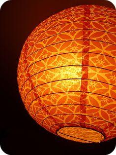 Our friends light up our lives! Naturally orange-scented Nozin. #orange #lantern