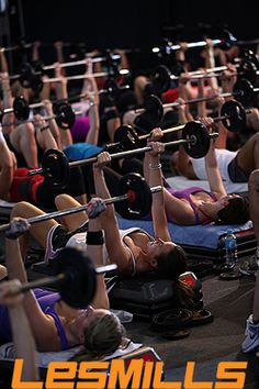 Les Mills BODYPUMP workout class at Gilroy Health & Fitness