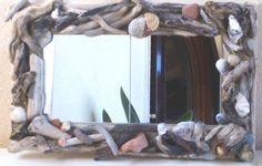 Specchi con cornice realizzata con legno di recupero in Casa, Arredamento e Bricolage, Decorazione della casa, Specchi | eBay