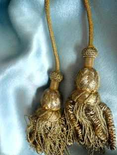 Beautiful metallic gold tassels