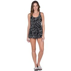 00141825a047 Volcom Womens Romper Guilty One Black Combo. Hansen Surfboards