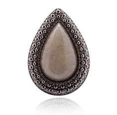 SAMANTHA WILLS - MOCHA EXCLUSIVE BOHEMIAN BARDOT RING - GREY
