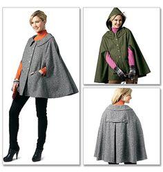 Mccall Pattern 6446 misses Generation Next cape pattern sz 20 new uncut Coat Patterns, Mccalls Patterns, Sewing Patterns, Skirt Patterns, Blouse Patterns, Raincoat Outfit, Blue Raincoat, Capes & Ponchos, Cape Pattern