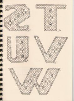 Alphabet S à W Torchon Alphabet, Bobbin Lacemaking, Bobbin Lace Patterns, Lace Heart, Lace Jewelry, Lace Making, Lace Detail, Crochet, Letters