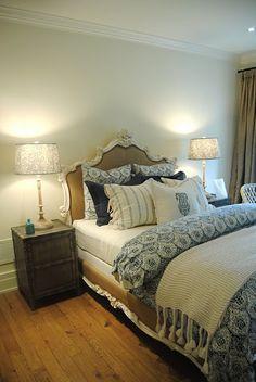 Lovely bedding #bedroom #bedding #blue
