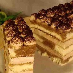 Tarta de Tiramisú con crema sin huevo