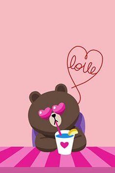 naver corp. messenger line / ♥.♥ brown
