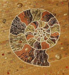 Ammonite mosaic by jedip, via Flickr