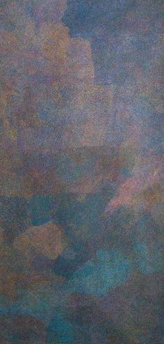 Caroline Petrick Ngwarreye Country 213 x 100cm Utopia, Eastern Desert. For more Aboriginal art visit us at www.mccullochandmcculloch.com.au #aboriginalart #australianart #contemporaryart
