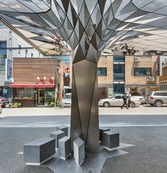 DaeWha Kang Design have completed the transformation of a dull era office building in Seoul, South Korea, into a contemporary building covered in creative touches. Architecture Details, Landscape Architecture, Interior Architecture, Ceiling Design, Wall Design, Office Block, Pillar Design, Column Design, Contemporary Building