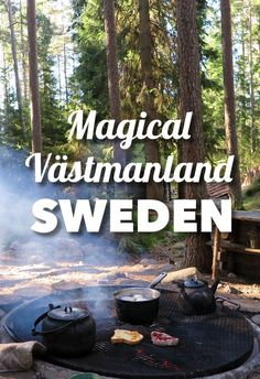 Incredible nature adventure in the lush region of Västmanland, near Stockholm! Sweden is the best place to enjoy nature and here you'll be staying at cool little huts in the forest!