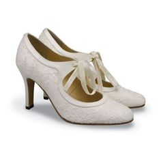 Diane Hassall Vintage wedding shoes ❤ liked on Polyvore featuring shoes, heels, 1920's, 1920s style shoes, evening shoes, 20s shoes, roaring twenties shoes and roaring 20s shoes