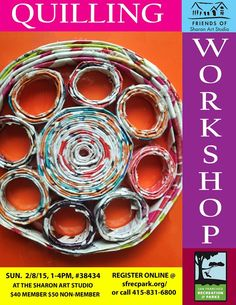 Quilling workshop flyer, winter 2015