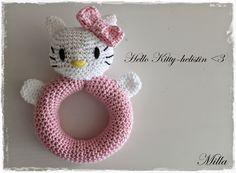 Kotiruusu: Virkkausohje: Hello Kitty-helistin