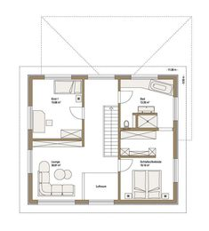 Fertighaus WEISS - Musterhaus Cube in Ulm Projects To Try, Floor Plans, House, Home, Ulm, Big Living Rooms, Modern Bungalow, House Interiors, House Construction Plan