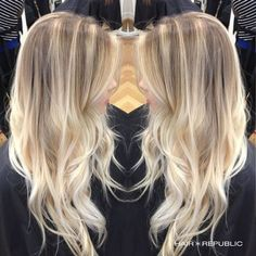 Are you looking for best hair colors to apply for long hair? Just see here, we have made a collection of fantastic long balayage colored hairstyles Brown Blonde Hair, Ash Blonde Balayage, Medium Blonde, Bayalage, Blonde Highlights, Bright Blonde, Hair Color And Cut, Karen, Ombre Hair