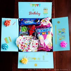 Care Package Good Morning Sunshine Care Packages and Birthday Presents and Chocolate Cake Care P. 36th Birthday, Birthday Box, Friend Birthday Gifts, Happy Birthday, Homemade Gifts, Diy Gifts, Birthday Care Packages, Deployment Care Packages, Creative Gifts