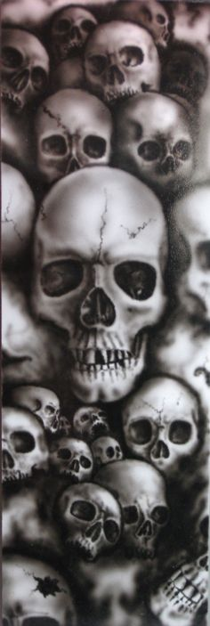 Skulls Of Horror Arte Dope, Totenkopf Tattoos, Skull Pictures, Arte Horror, Airbrush Art, Skull Design, Skull Tattoos, Grim Reaper, Skull Art